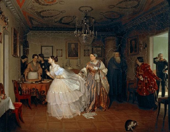 1848-Fedotov-It's the matchmaking of the major-ФедотовСватовство майора.