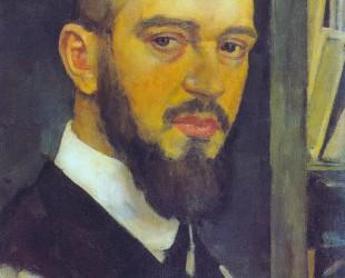 1912-Lentulov-self-portrait-Лентулов-Автопортрет