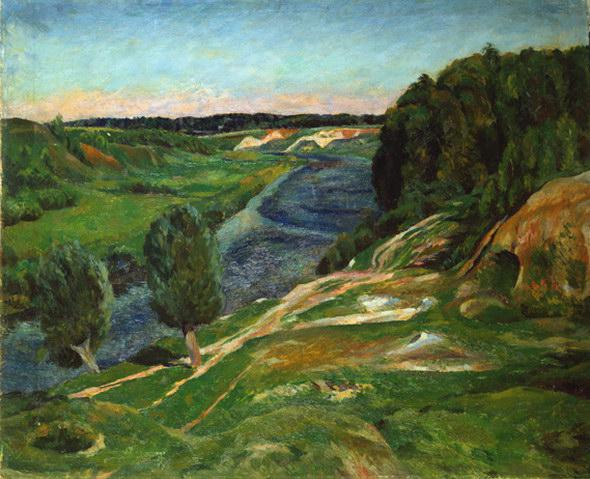 Lentulov-It,s a river Pahra-Лентулов-Река Пахра в Московской обл