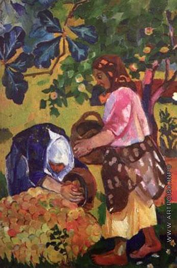 Goncharova-It's the collecting apples-Гончарова-Сбор яблок