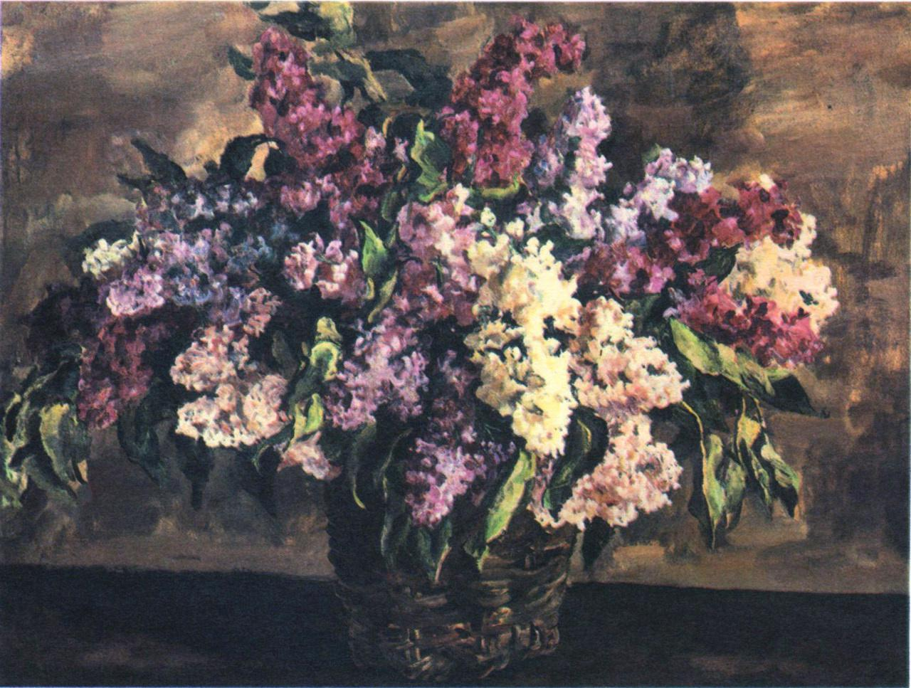 Conchalovsky-It's the flowers Lilac-Kончаловский-Сирень в корзине