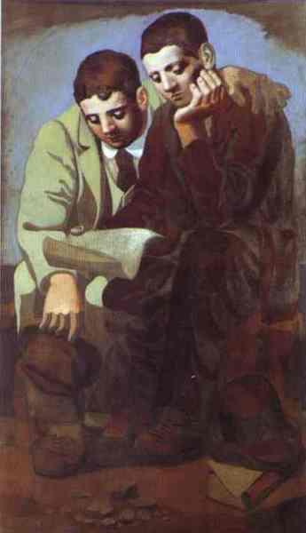 1920-Picasso-They reads a latter-Чтение письма