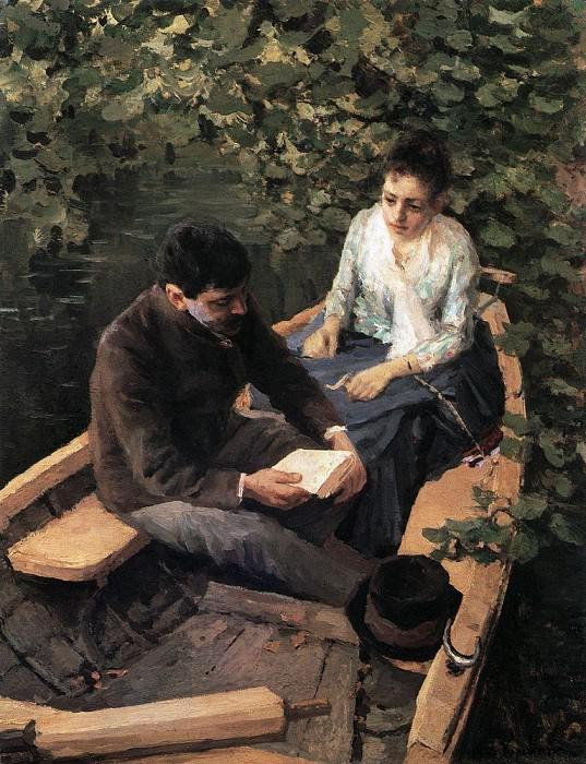 1888-Korovin-They are in a boat-Коровин-В лодке