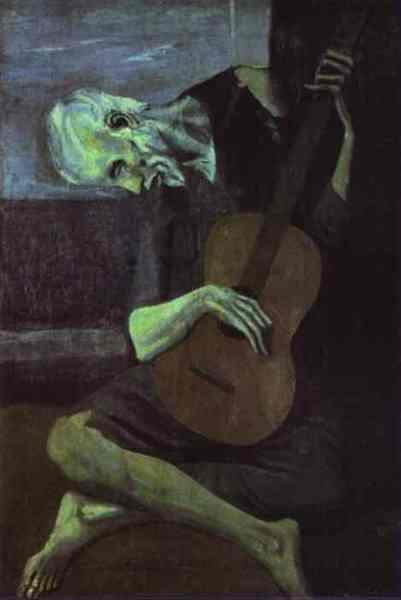 1903-Picasso-The old guitarist-Пикассо-Старый гитарист