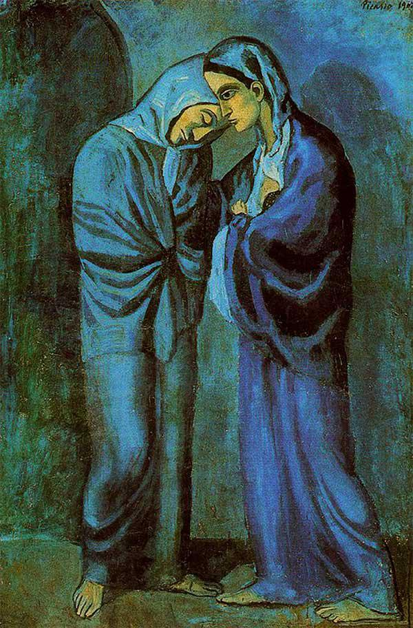 1902-Picasso-Two sisters-Пикассо-Две сестры