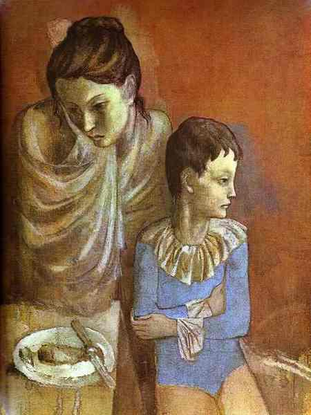 1905-Picasso-Mother and son-Пикассо -Акробаты Мать и сын