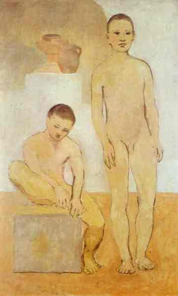 1905-Picasso-Two yang boies-Пикассо-Два юноши