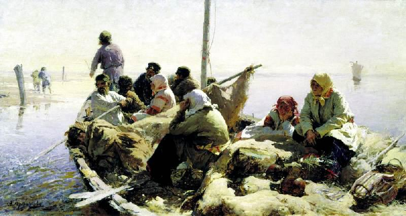 1889-Arhipov-They swims on the river Oka-Архипов По реке Оке