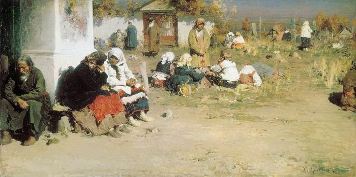 1892-Arhipov-It's a holiday Radonitcsa-Архипов-Радоница
