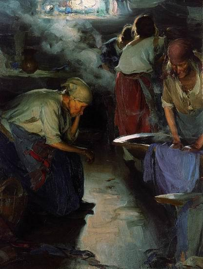 1897-Arhipov-They are washerwomans-Архипов-Прачки