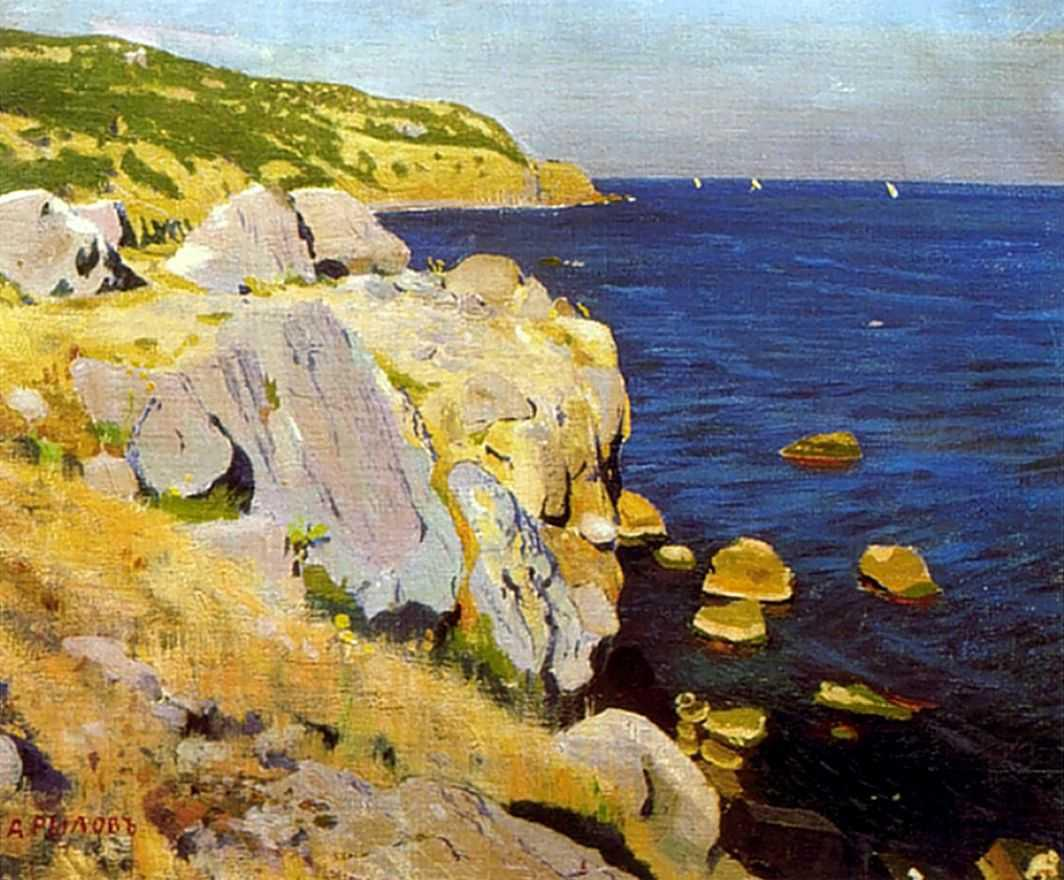 1909-Rylov-there are rocks in Kokenejze-Рылов-Скалы в Кокенеизе