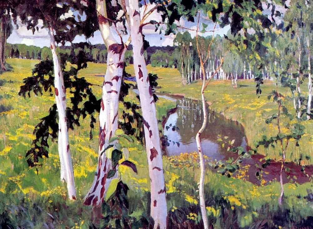 1913-Rylov-It's the river-Рылов-Река