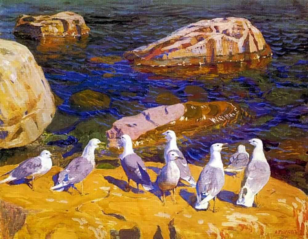 1910-Rylov-It's the seagulls-Рылов-Чайки