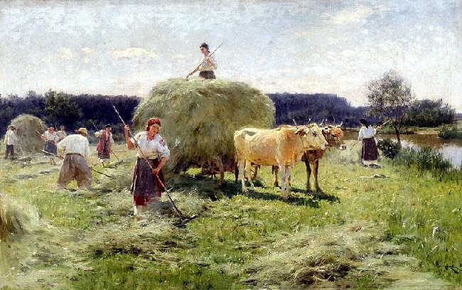 Venezianov-haymaking-They collections hay-Венецианов-Сбор сена