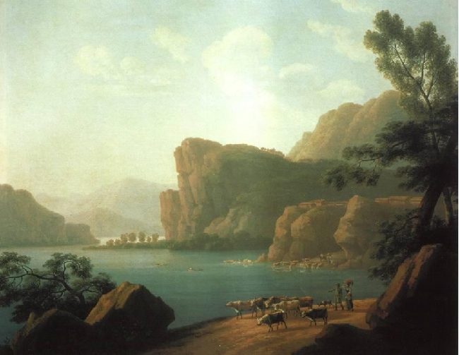 1817-Martynov-It's Sibiria and the river Selenga-Мартынов Вид реки Селенги в Сибири