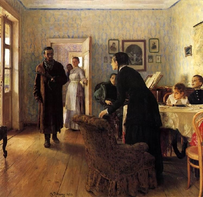 1888- Repin-You don't waited-Репин-Не ждали