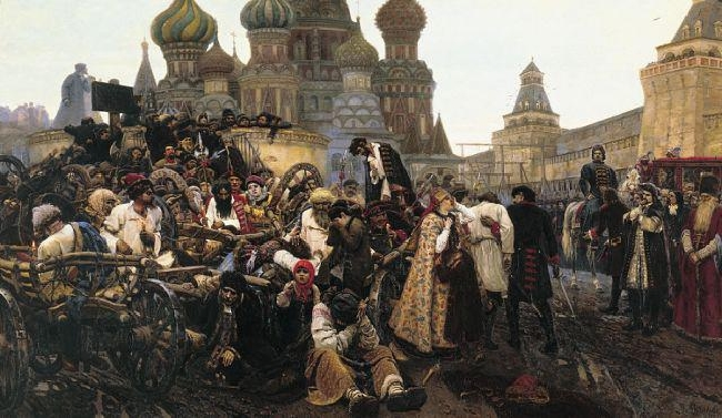 1881-Surikov-There is the morningof strelestk execut-Суриков Утро Стрелецкой казни