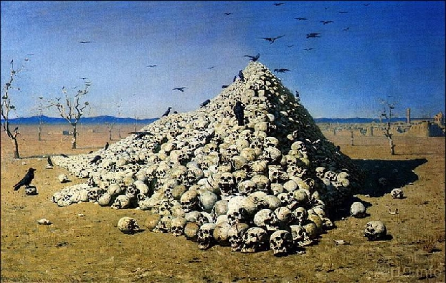 1871-Vereshchagin-It's an apotheosis of the war 1-Верещагин-Апофеоз войны 1