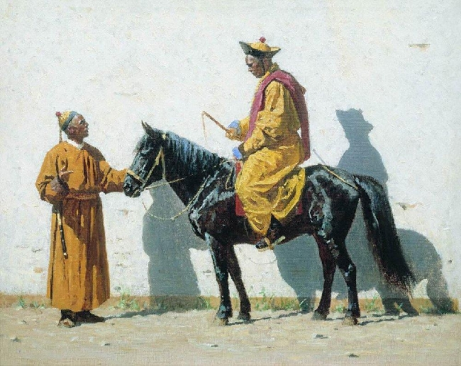Drawing-Vereshchagin-it's Kalmyk-Калмыки