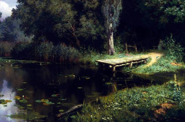 Polenov-It's the heal pond-Поленов-Заросший пруд