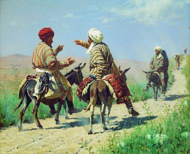 Drawing-Vereshchagin-It's a mulla-Мулла