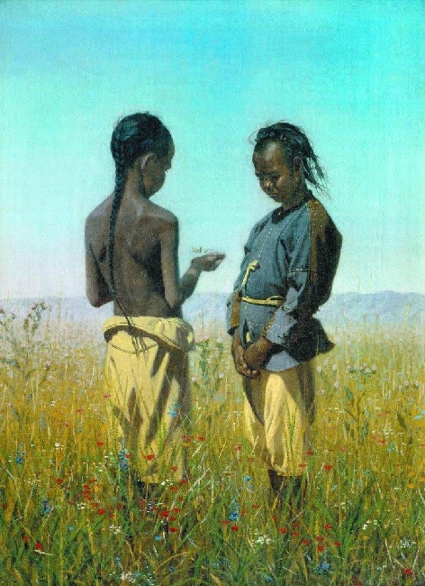 Drawing-Vereshchagin-Thre are children-Дети