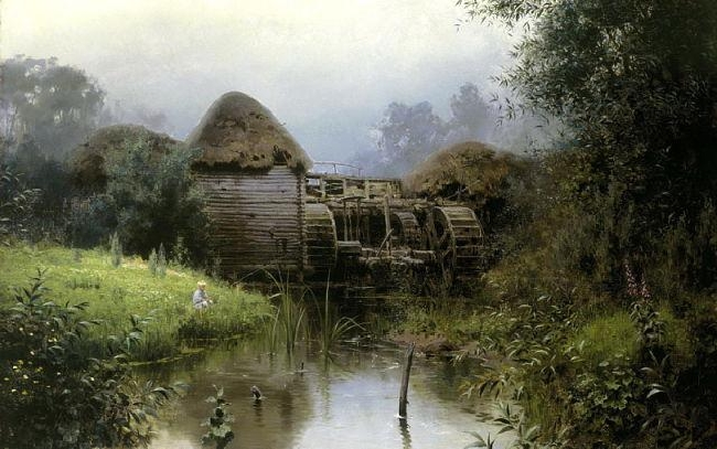 Polenov-It's the old mill-Поленов-Старая мельница