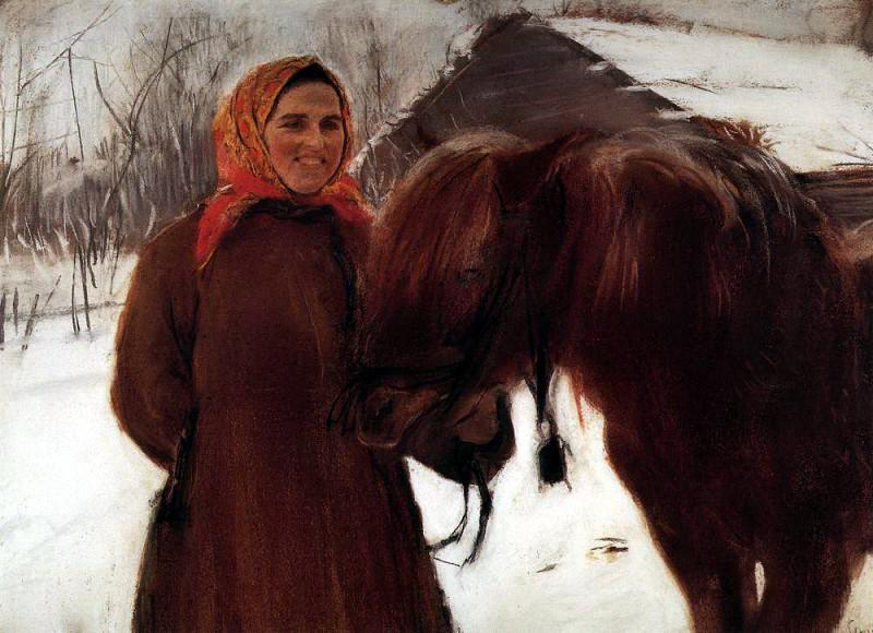 1898-Serov-It's a woman with a horse-Серов-Баба с лошадью
