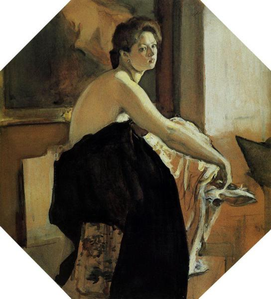 1905-Serov-It's a naturshitsa-Серов-Натурщица